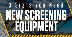 3 Signs You Need New Screening Equipment wagner equipment co
