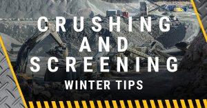 Winter Crushing and Screening Tips wagner equipment co